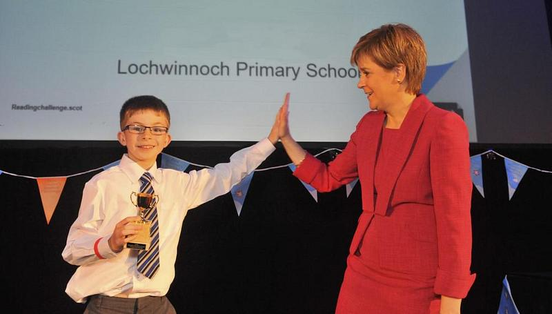 The winner of Pupil Reading the Most Books as part of the First Minister's Reading Challenge