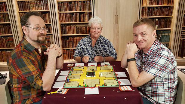 Val McDermid, Doug Johnstone and Stuart McBride play Cluedo