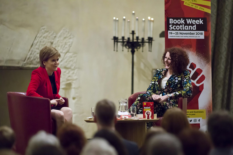 First Minister Nicola Sturgeon and Maggie O'Farrell